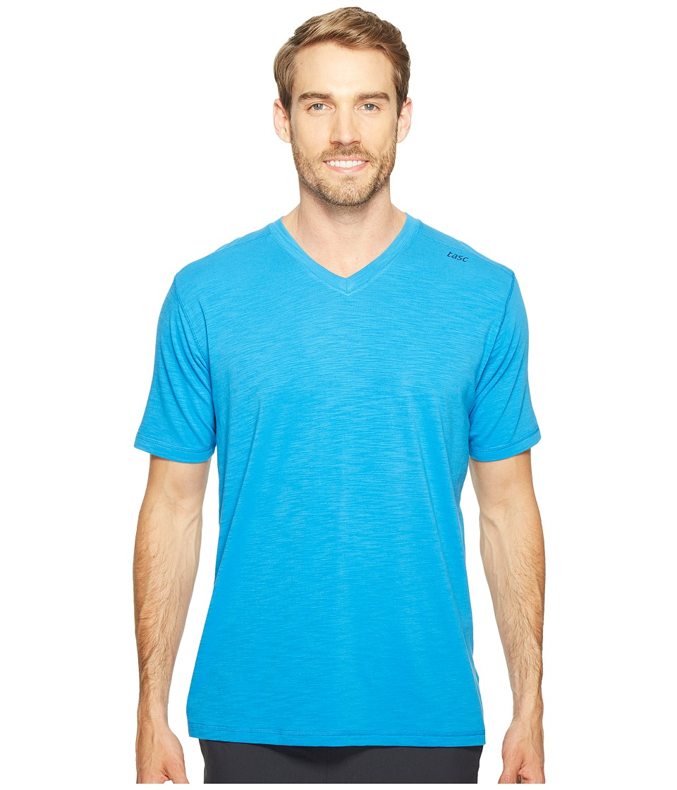 tasc Performance - Vital V-Neck (Ultra Blue Slubbed) Men's Workout