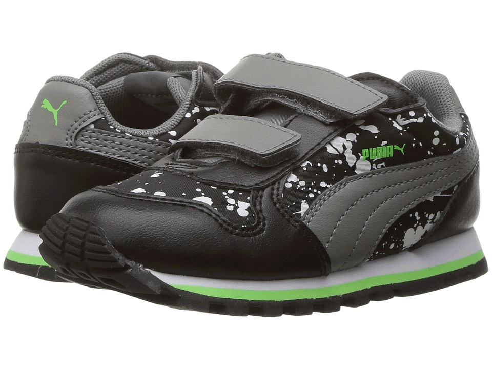 Puma Kids - St Runner NL Splatz V INF (Toddler) (Puma Black/Quiet Shade) Boys Shoes