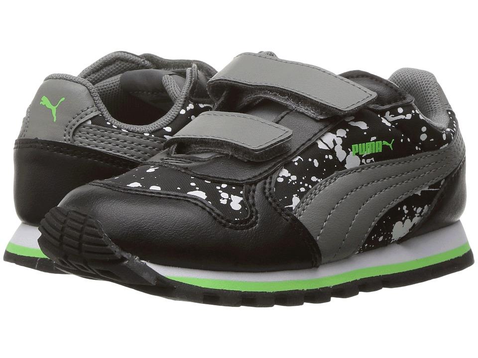 Puma Kids - St Runner NL Splatz V INF (Toddler) (Puma Black/Quiet Shade) Boys Shoes