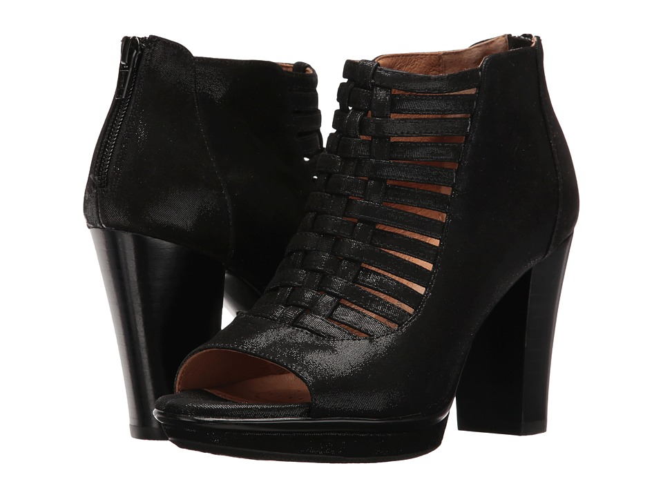 Sofft - Renita (Black Mini Dot Kid Suede) High Heels