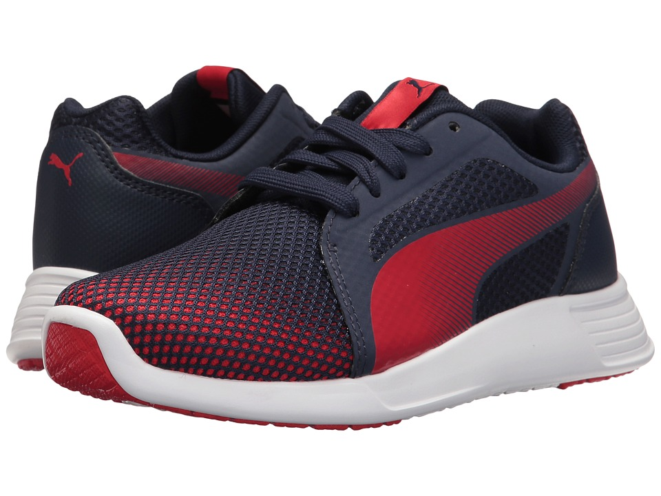 Puma Kids - St Trainer Evo Techfade Jr (Big Kid) (Peacoat/High Risk Red) Boys Shoes