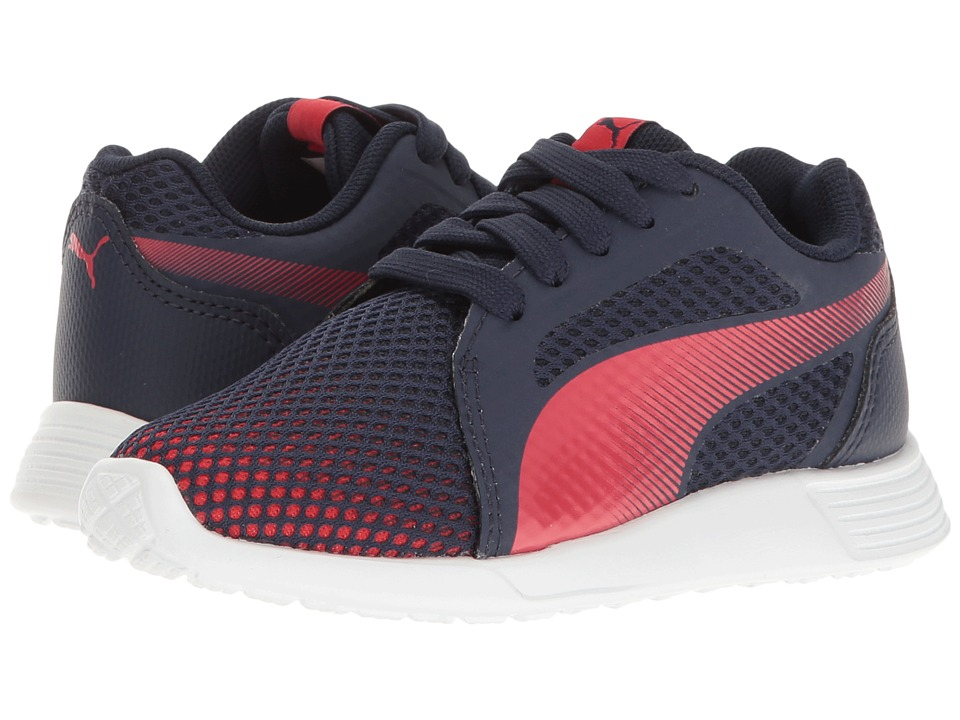 Puma Kids - St Trainer Evo Techfade PS (Little Kid/Big Kid) (Peacoat/High Risk Red) Boys Shoes