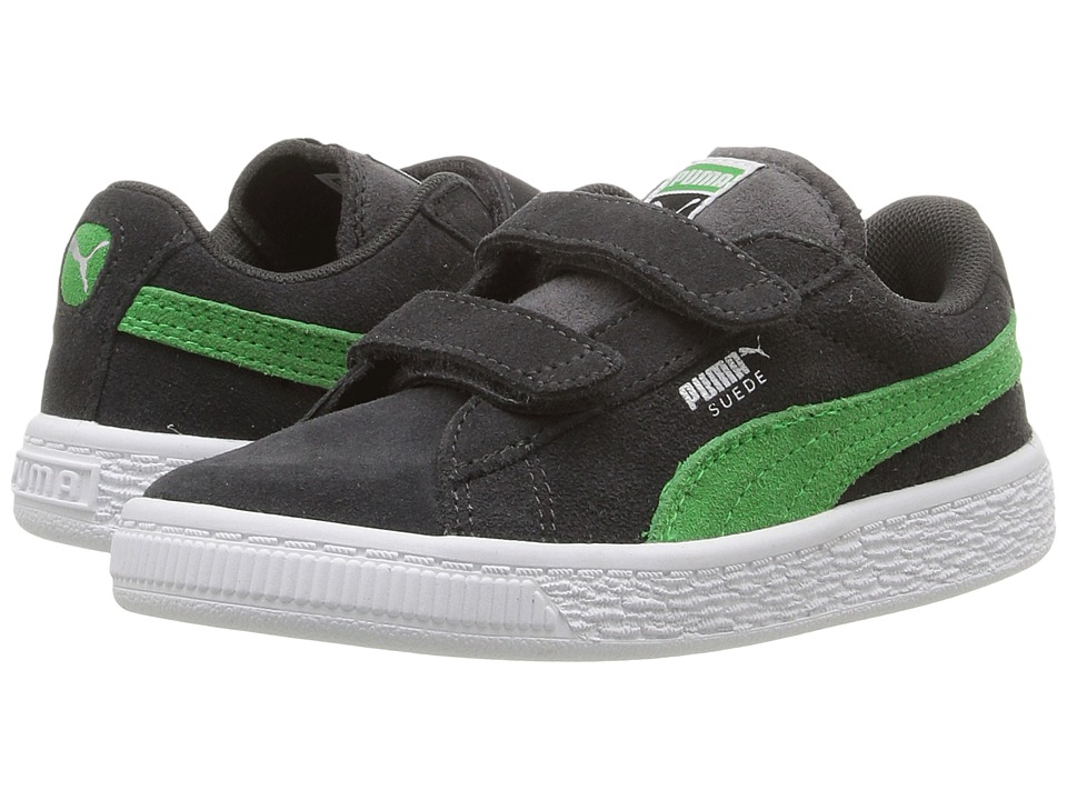 Puma Kids - Suede 2 Straps Inf (Toddler) (Asphalt/Andean Toucan) Boys Shoes