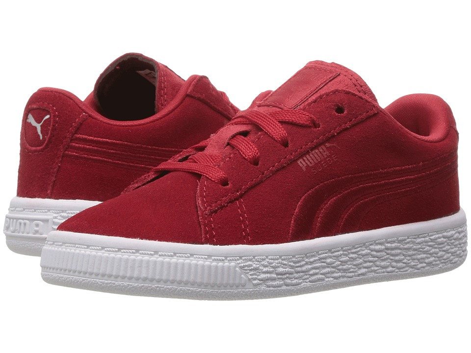 Puma Kids - Suede Classic Badge INF (Toddler) (Barbados Cherry) Boys Shoes