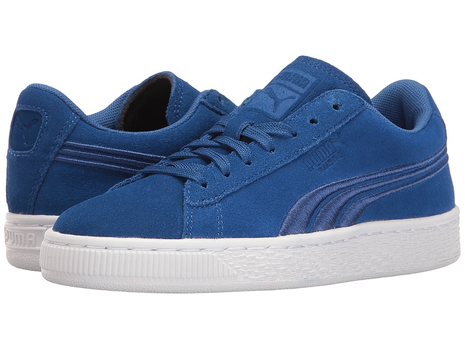 Puma Kids - Suede Classic Badge Jr (Big Kid) (True Blue/True Blue) Boys Shoes