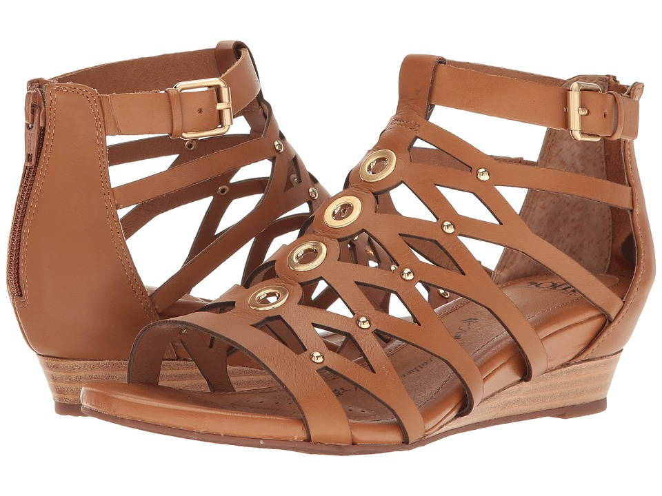 Sofft - Roslyn (Luggage Cow Quilin) Women's Sandals