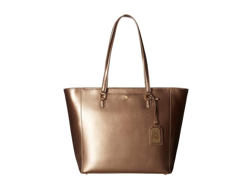 LAUREN Ralph Lauren - Newbury Halee Tote (Gold Leaf) Tote Handbags