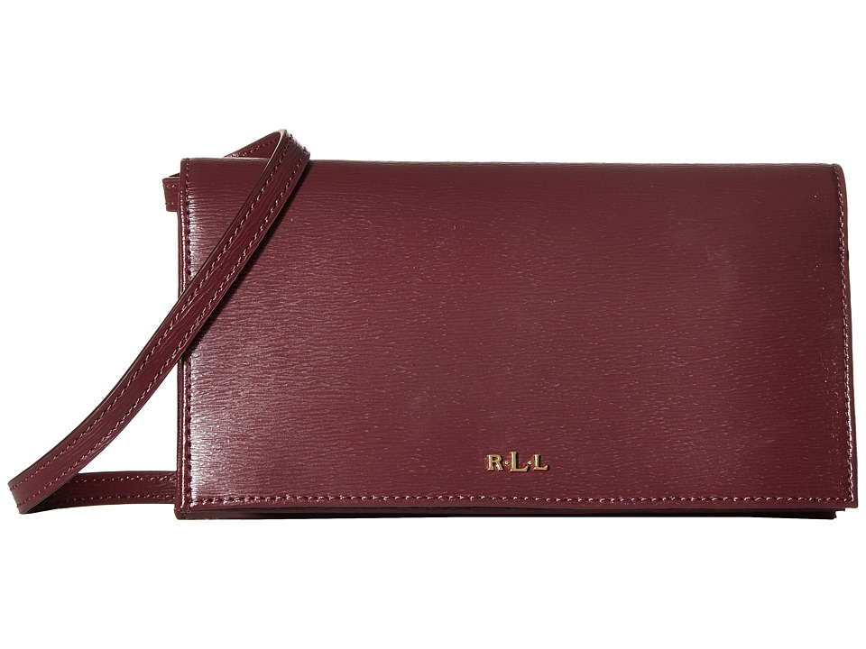 LAUREN Ralph Lauren - Newbury Kaelyn Crossbody (Claret) Cross Body Handbags