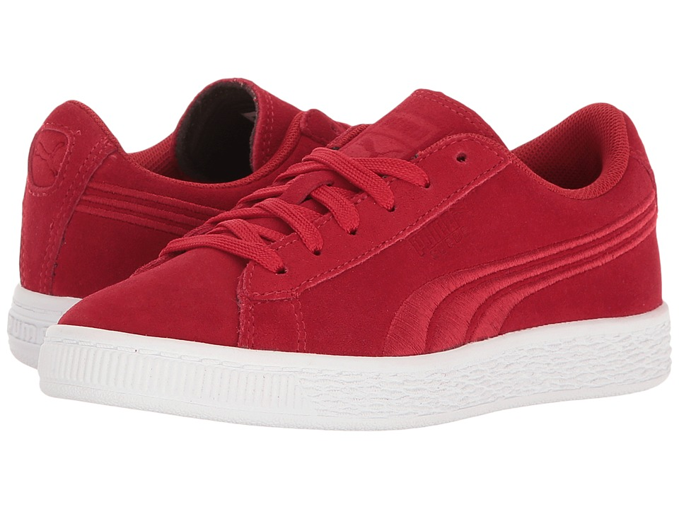 Puma Kids - Suede Classic Badge PS (Little Kid/Big Kid) (Barbados Cherry/Barbados Cherry) Boys Shoes