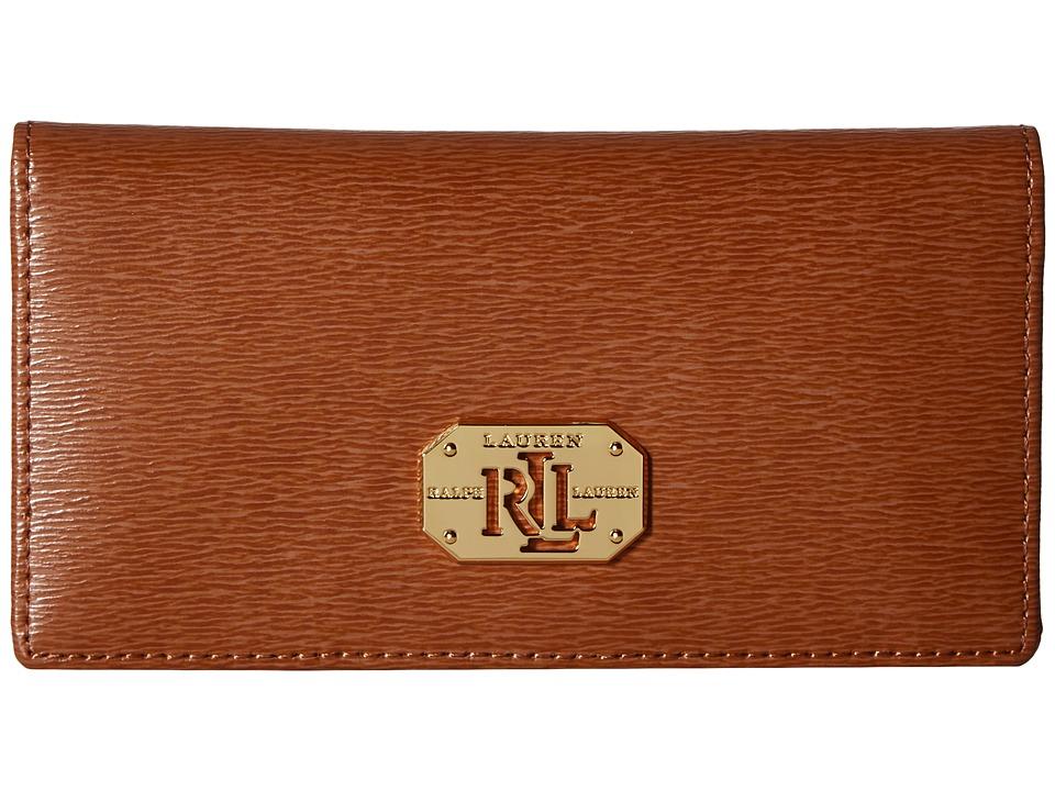 LAUREN Ralph Lauren - Newbury LRL Slim Wallet (Lauren Tan) Wallet Handbags