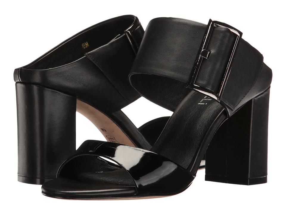 Vaneli - Becky (Black Patent/Black Nappa/Gunmetal Buckle) Women's Slide Shoes