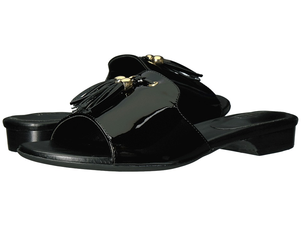 Vaneli - Blizzi (Black Patent/Gold Trim) Women's Dress Sandals