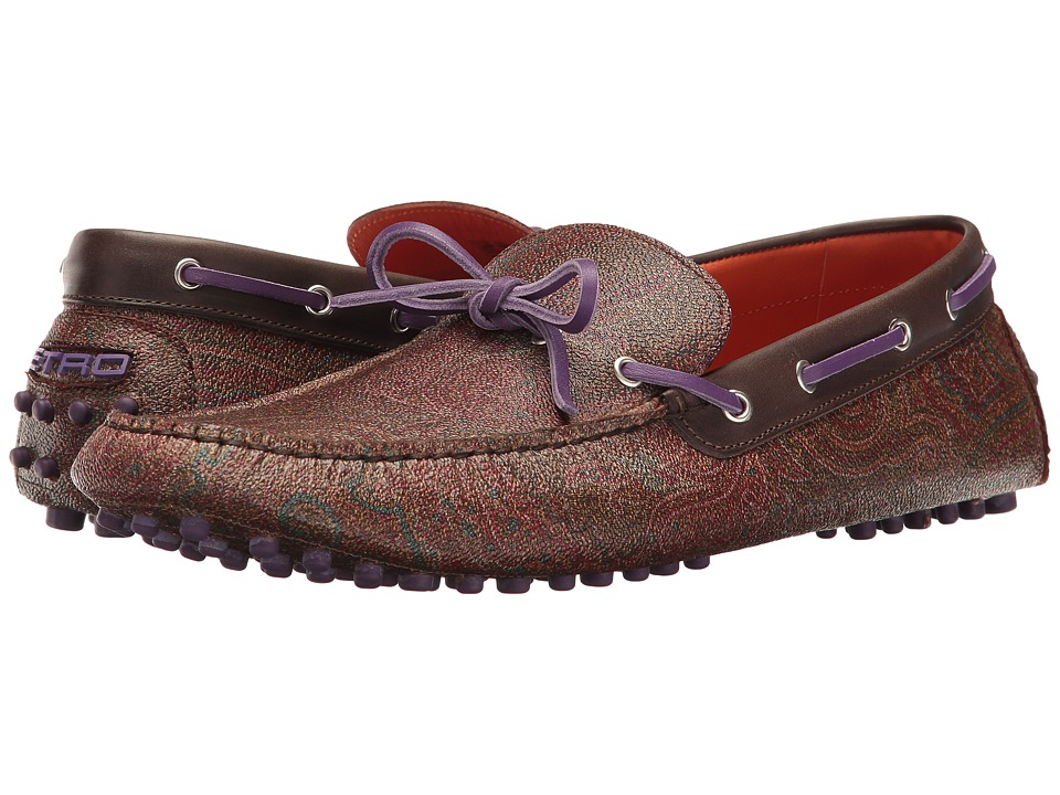 Etro - Paisley Driver (Purple) Men's Shoes