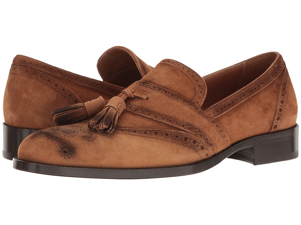 Etro - Tassel Suede Loafer (Cola) Men's Slip on Shoes