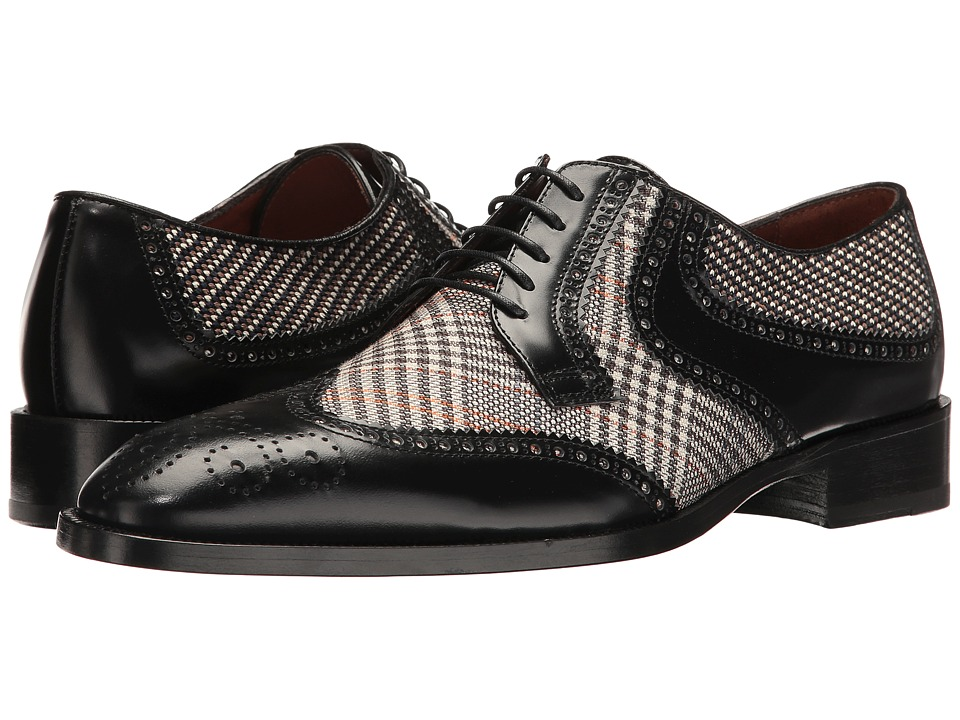 Etro - Wingtip Blucher (Black) Men's Lace Up Wing Tip Shoes