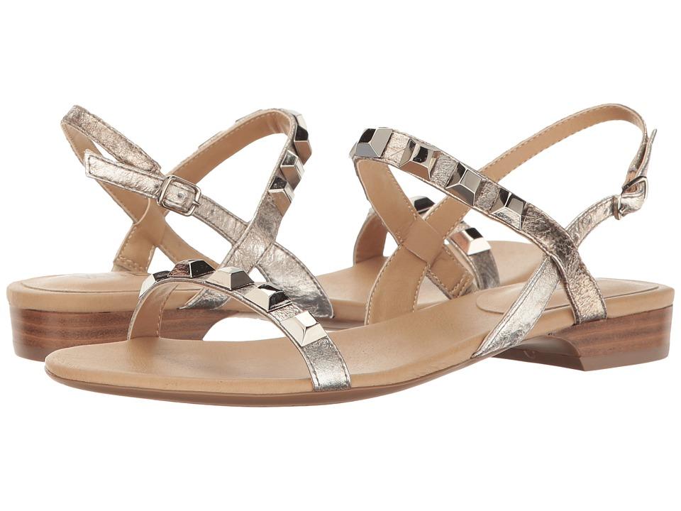 Vaneli - Bodicea (Pale Platino Gesa/Silver Studs/Silver Buckle) Women's Wedge Shoes