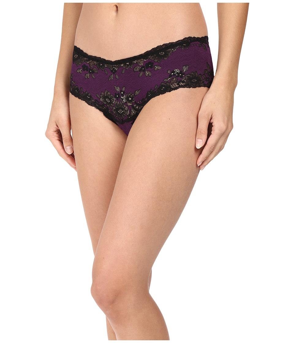 Cosabella - Italia Lowrider Hotpants (Black/Plum) Women's Underwear
