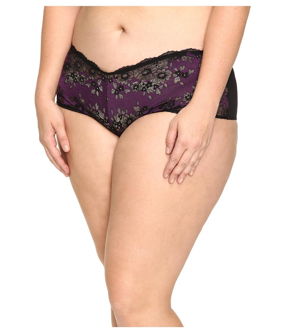 Cosabella - Italia Hotpants (Black/Plum) Women's Underwear