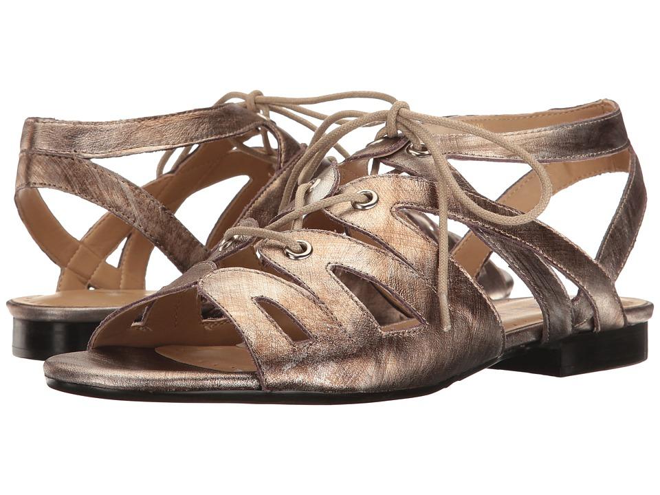 Vaneli - Edka (Pale Platino Gesa Kid/Silver Eyelets) Women's Sandals