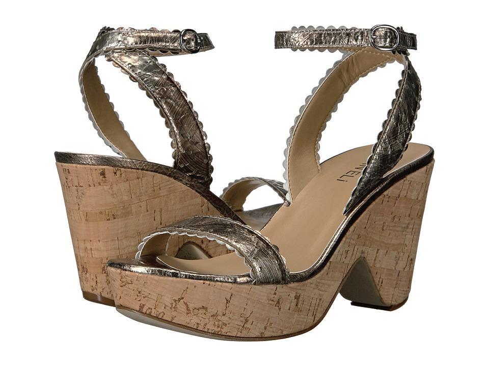 Vaneli Ephie (Pale Platino Gesa/Silver Metallic Nappa/Silver Buckle) High Heels