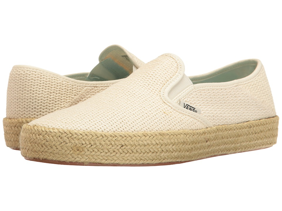Vans - Slip-On ESP ((Mesh) Marshmallow) Women's Slip on Shoes