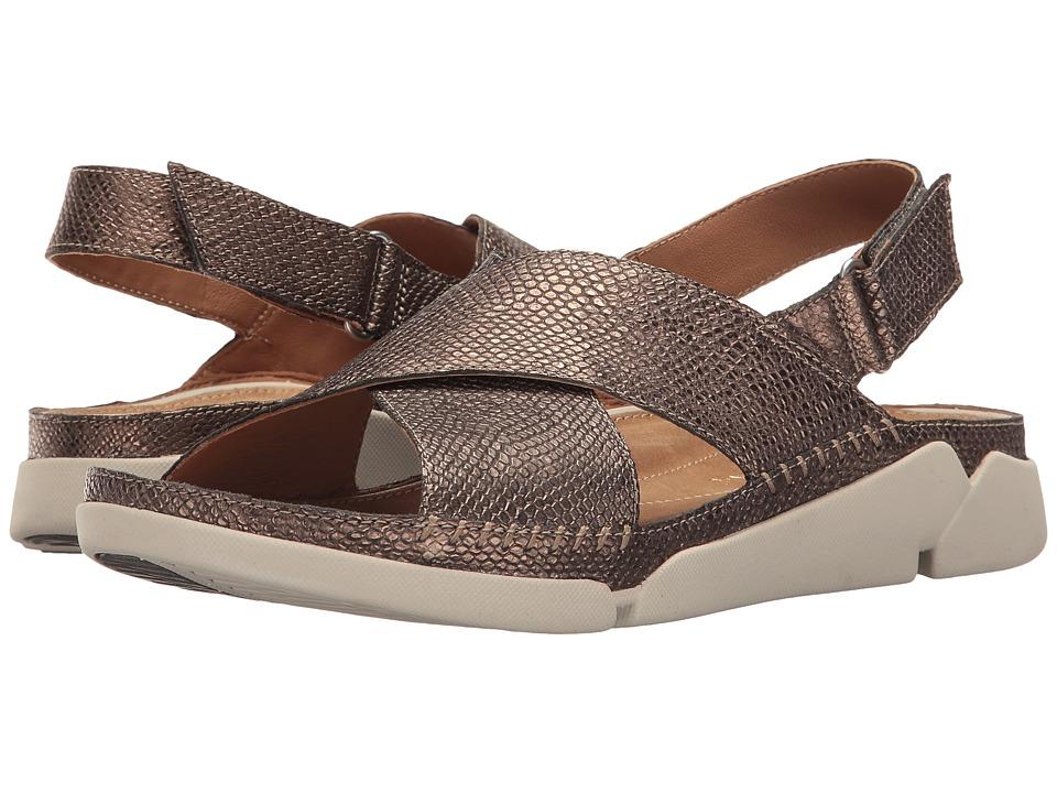Clarks - Tri Alexia (Metallic Leather) Women's Sandals