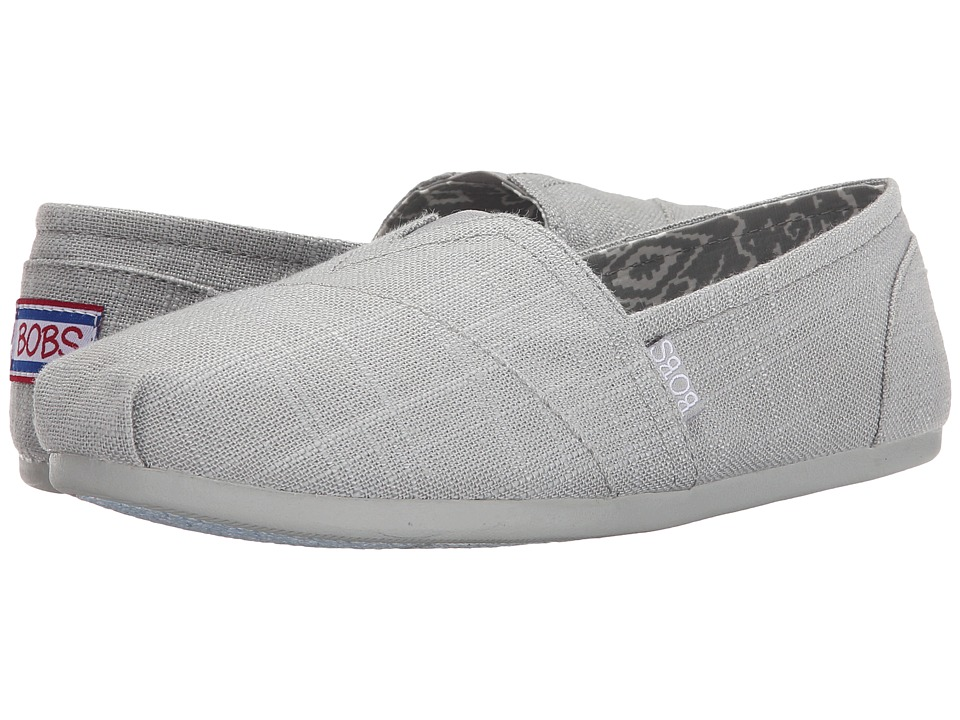 BOBS from SKECHERS - Bobs Plush - Best Wishes (Light Gray) Women's Shoes