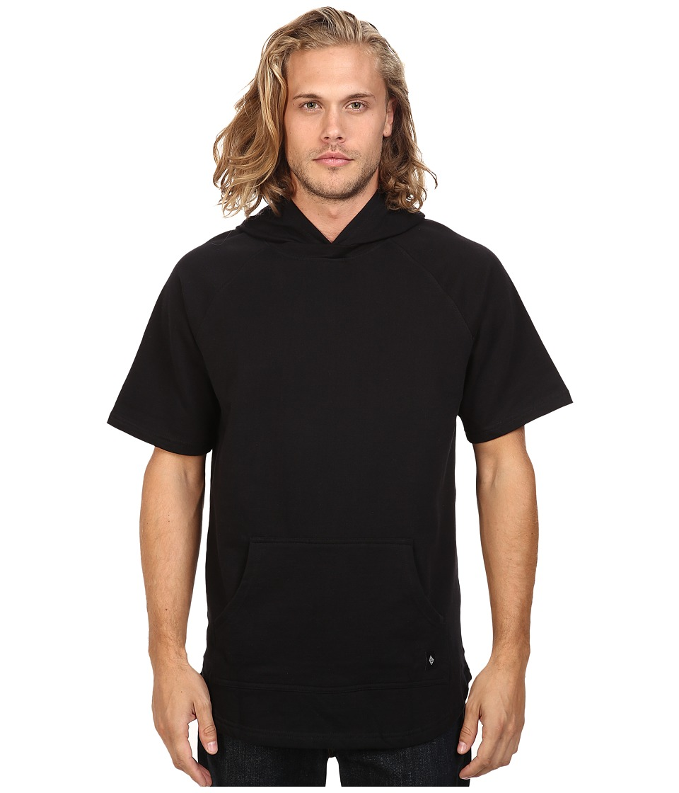 Akomplice West Short Sleeve Hoodie (Black) Men