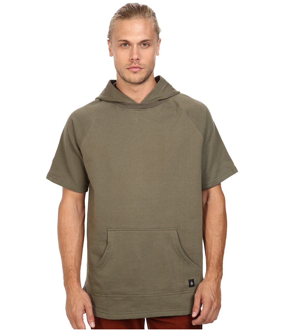 Akomplice - West Short Sleeve Hoodie (Military Green) Men's Sweatshirt
