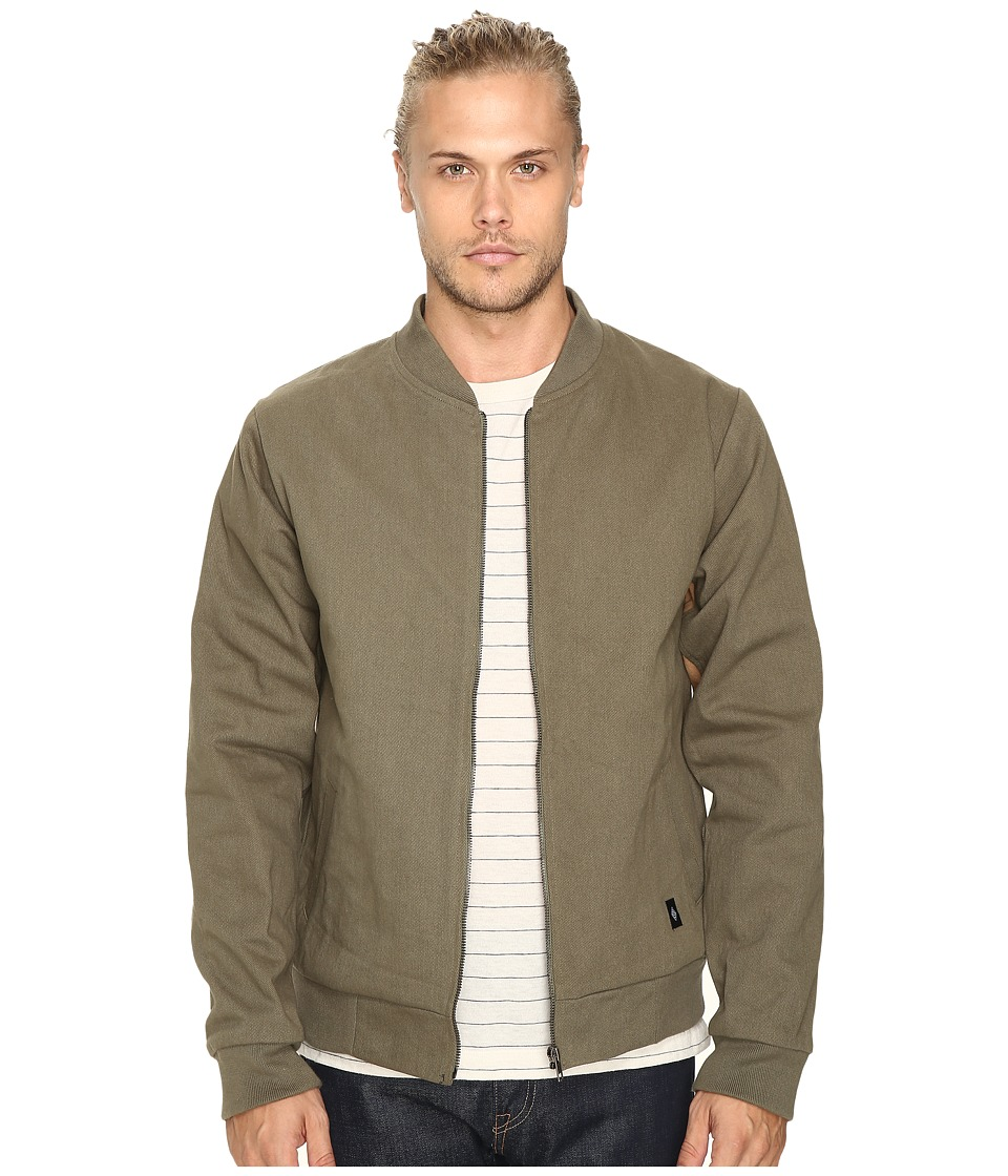 Akomplice - Cromwell Bomber Jacket (Olive/Tan) Men's Coat
