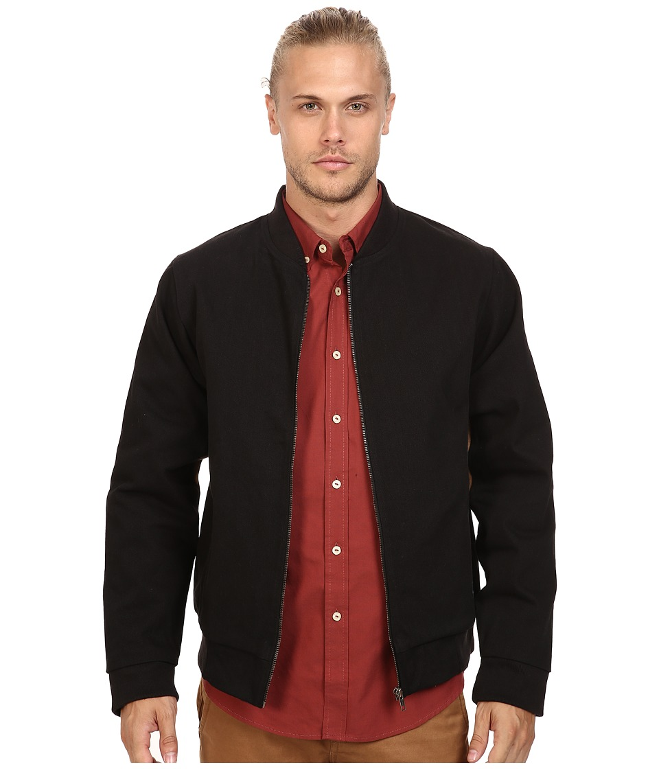 Akomplice - Cromwell Bomber Jacket (Black/Tan) Men's Coat