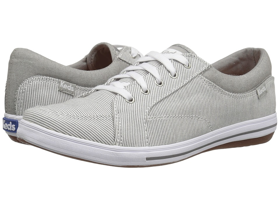 Keds - Vollie Chambray Railroad Stripe (Light Gray) Women's Lace up casual Shoes