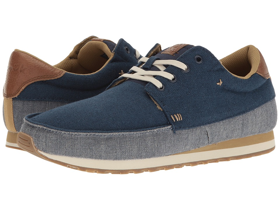 Sanuk Beer Runner (Navy/Tan) Men