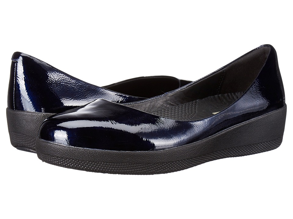 FitFlop Patent Superballerina (Inky Blue) Women