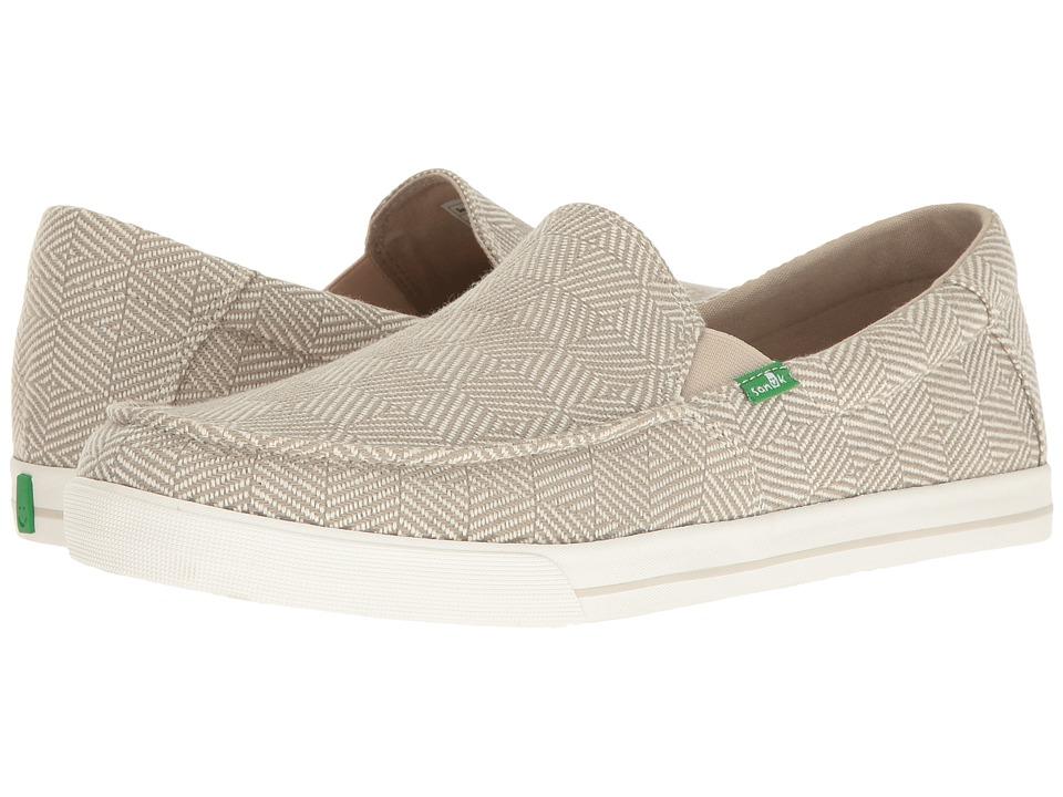 Sanuk - Sideline Checked (Oatmeal Checked) Men's Slip on Shoes