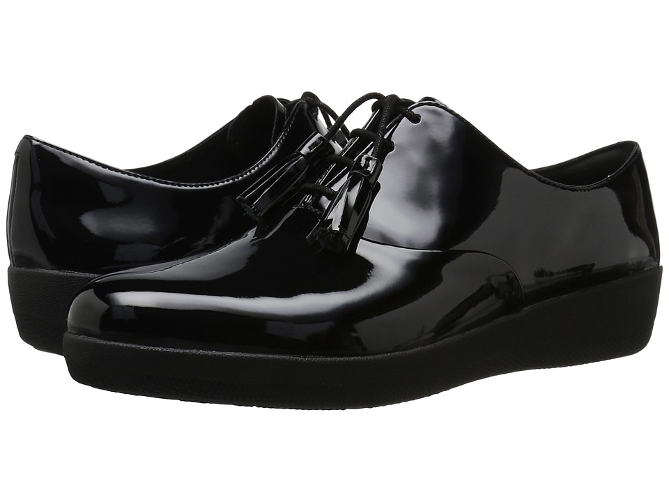 FitFlop - Classic Tassel Superoxford (All Black) Women's Shoes