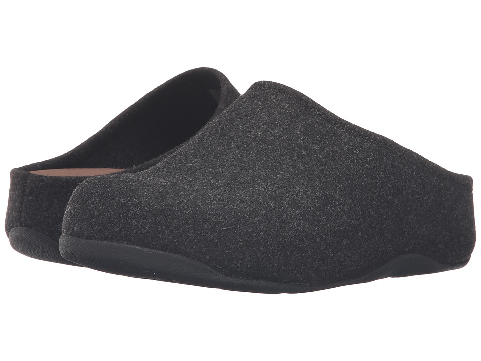 FitFlop Shuv Felt Black Womens  Shoes