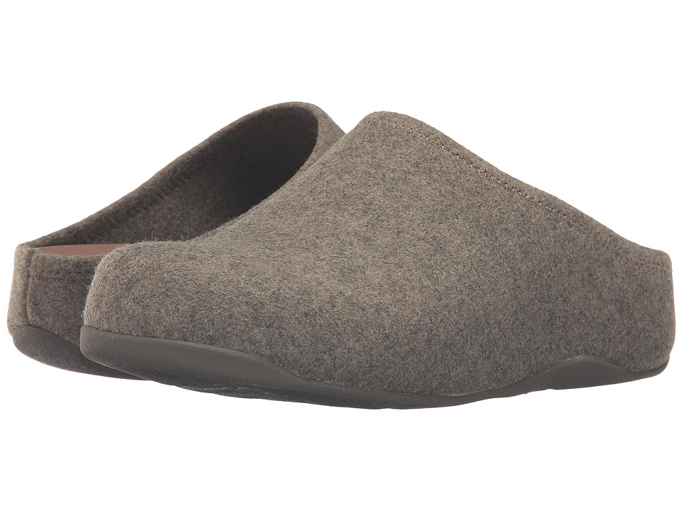 FitFlop Shuv Felt Khaki Womens  Shoes