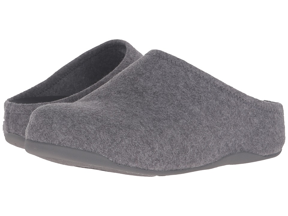 FitFlop Shuv Felt Light Grey Womens  Shoes
