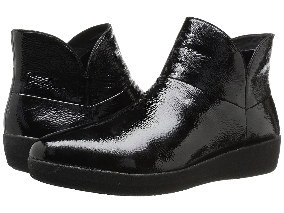 FitFlop Supermod Leather Ankle Boot (Black 2) Women