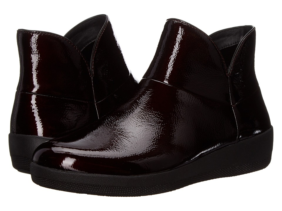 FitFlop Supermod Leather Ankle Boot (Dark Cherry) Women