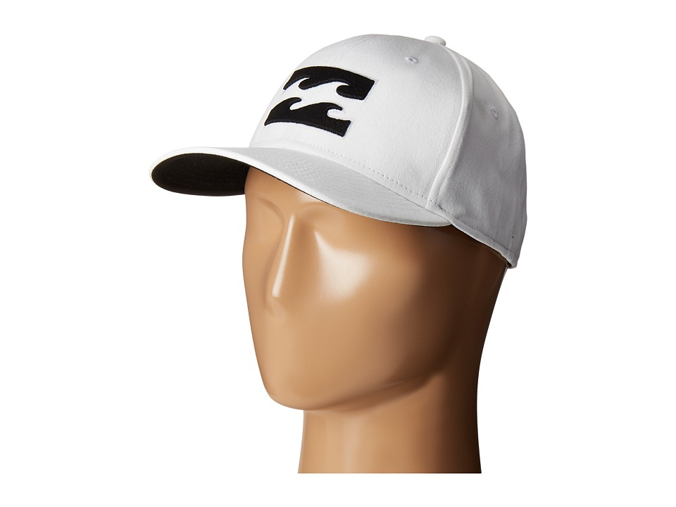 Billabong - All Day Stretch Solids Hat (White) Caps