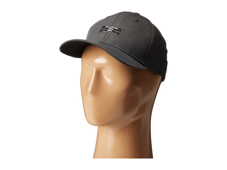 Billabong - Crossfire Stretch Fitted Hat (Asphalt) Caps