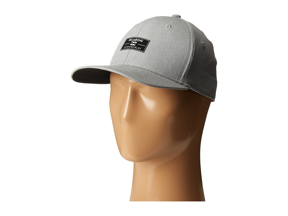 Billabong - Crossfire Stretch Fitted Hat (Grey) Caps
