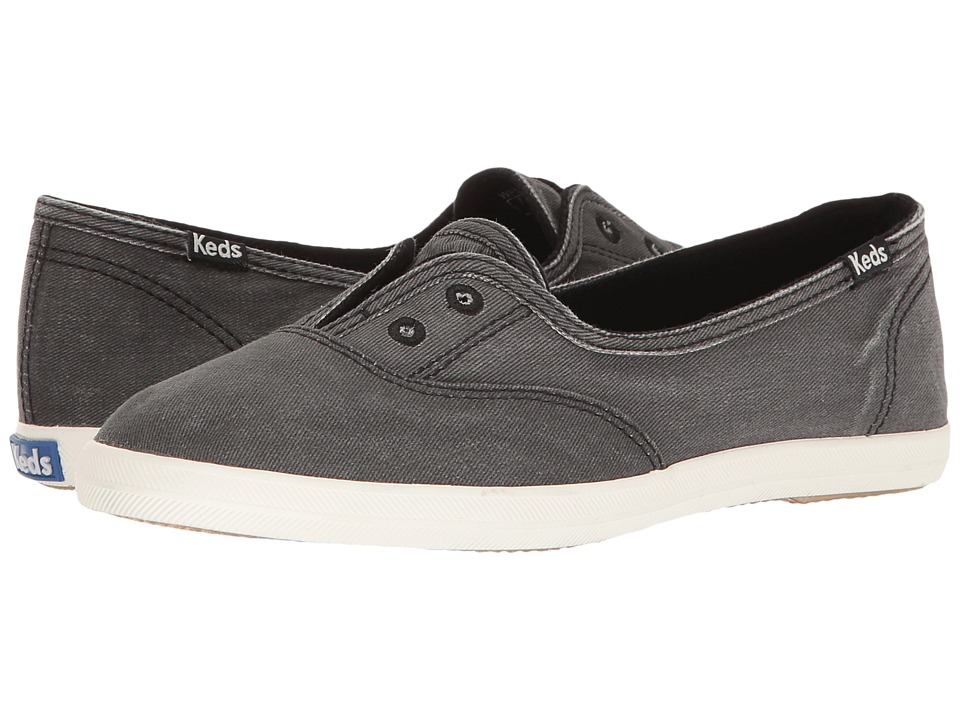Keds - Chillax Mini Seasonal Solid (Black) Women's Flat Shoes