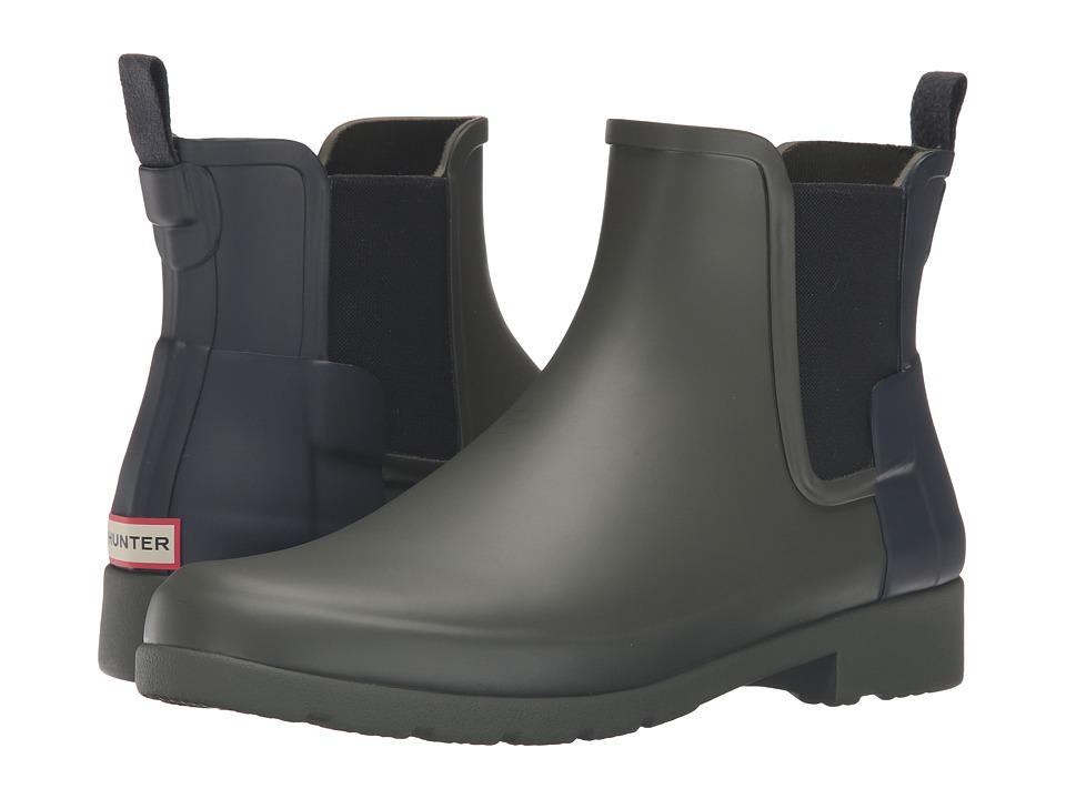Hunter - Original Refined Chelsea (Dark Olive/Navy) Women's Boots