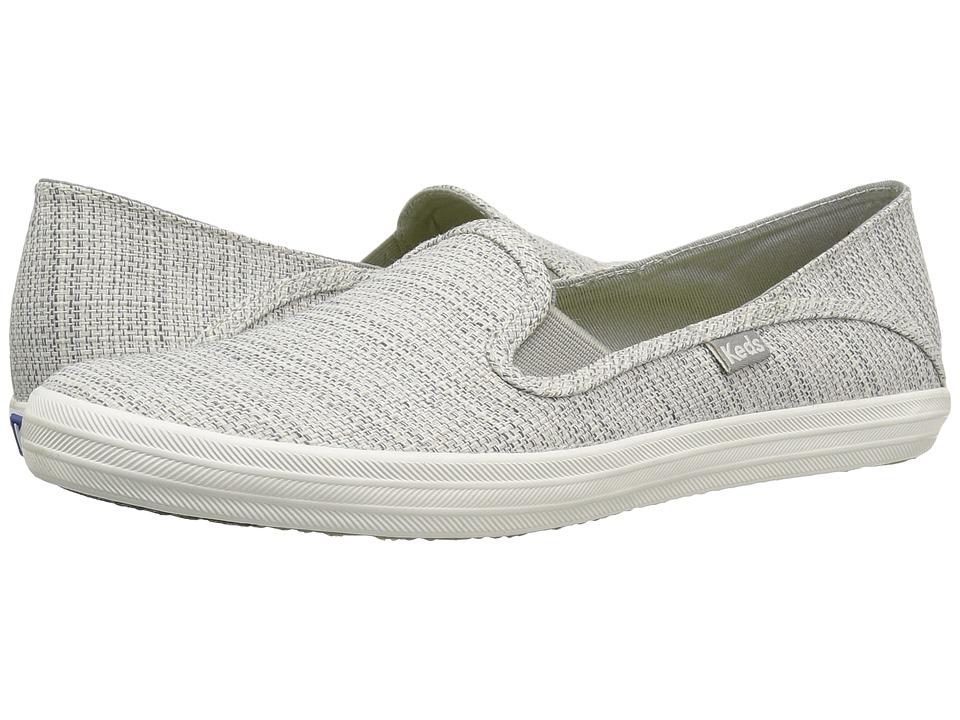 Keds - Crashback Woven (Light Gray) Women's Slip on Shoes