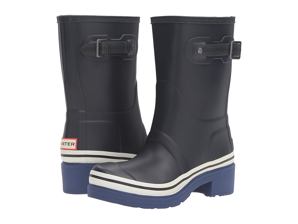 Hunter - Original Ankle Boot Buoy Stripes (Navy/Deep Cobalt/White) Women's Boots