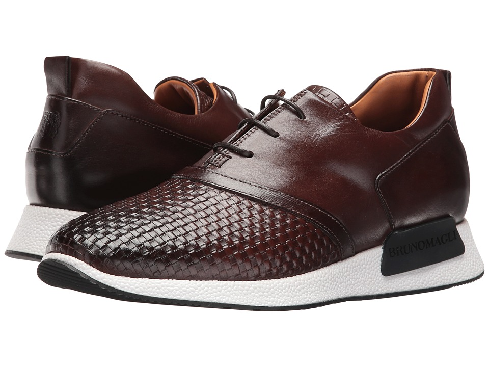 Bruno Magli - Dito (Dark Brown Woven) Men's Shoes