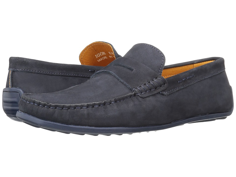 Donald J Pliner - Igor (Navy) Men's Shoes